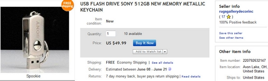 rugsgallerydecorinc 512GB Sony Flash Drive