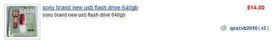 sony brand new usb flash drive 640gb
