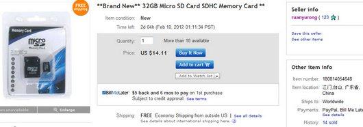Brand New 32GB Micro SD Card SDHC Memory Card