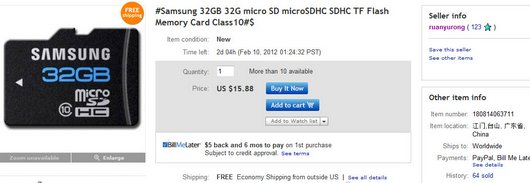 #Samsung 32GB 32G micro SD microSDHC SDHC TF Flash Memory Card Class10#$