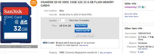 @SANDISK SD HC SDHC 32GB 32G 32 G GB FLASH MEMORY CARD@
